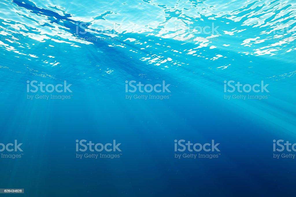 rendering surface underwater blue background in sea vector art illustration