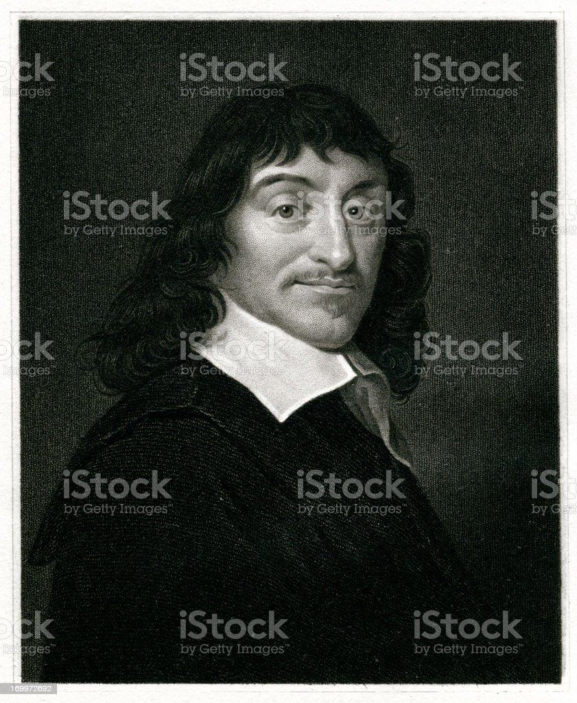 Rene Descartes vector art illustration