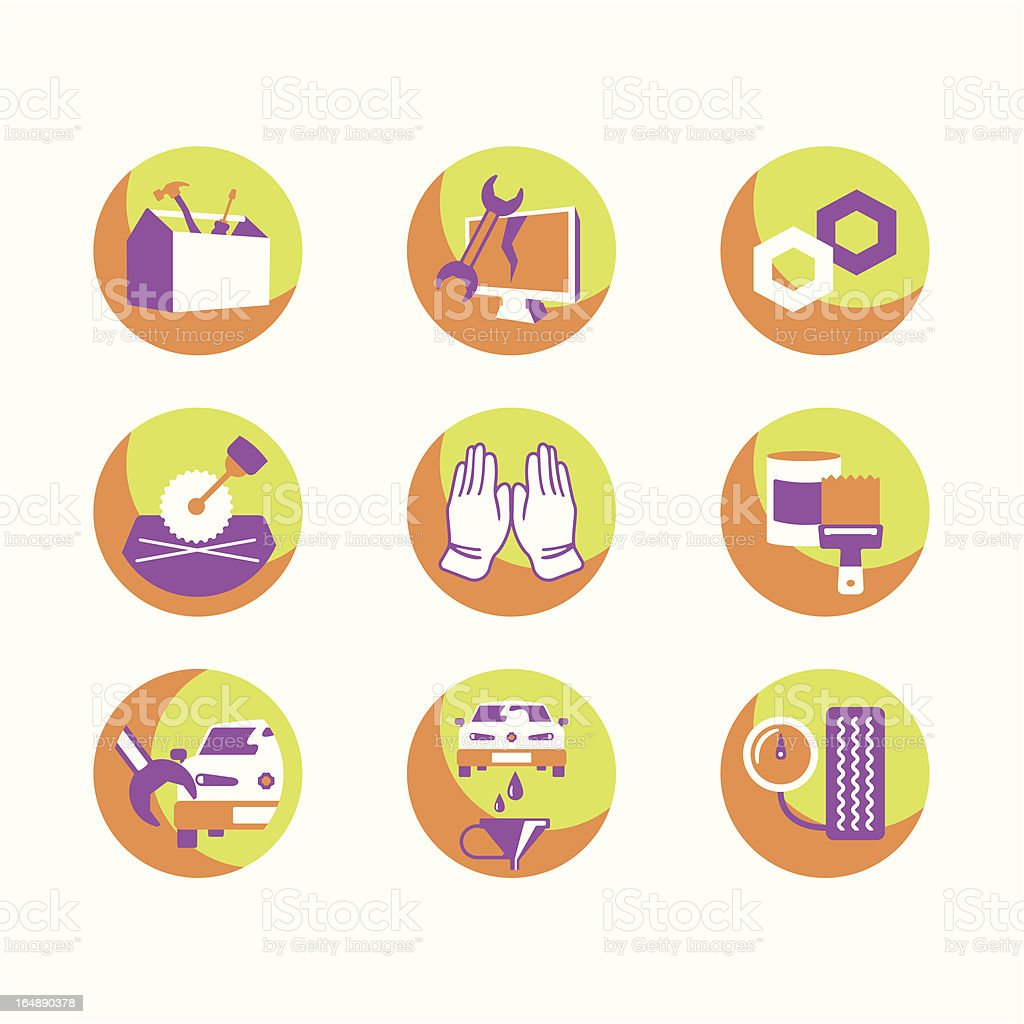 Repair Icons Series royalty-free repair icons series stock vector art & more images of arts culture and entertainment