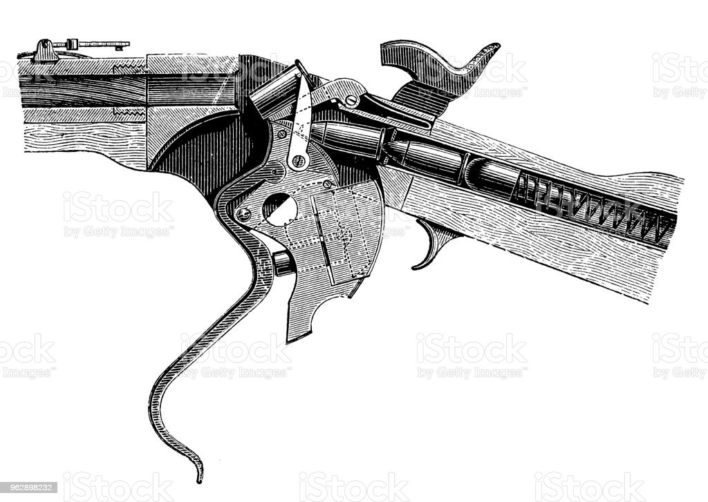 Repeater Rifle Of Spencer Stock Illustration - Download