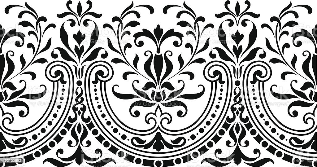 Repeating Scroll Border royalty-free stock vector art