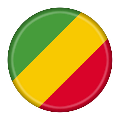 A Republic of Congo button illustration with clipping path
