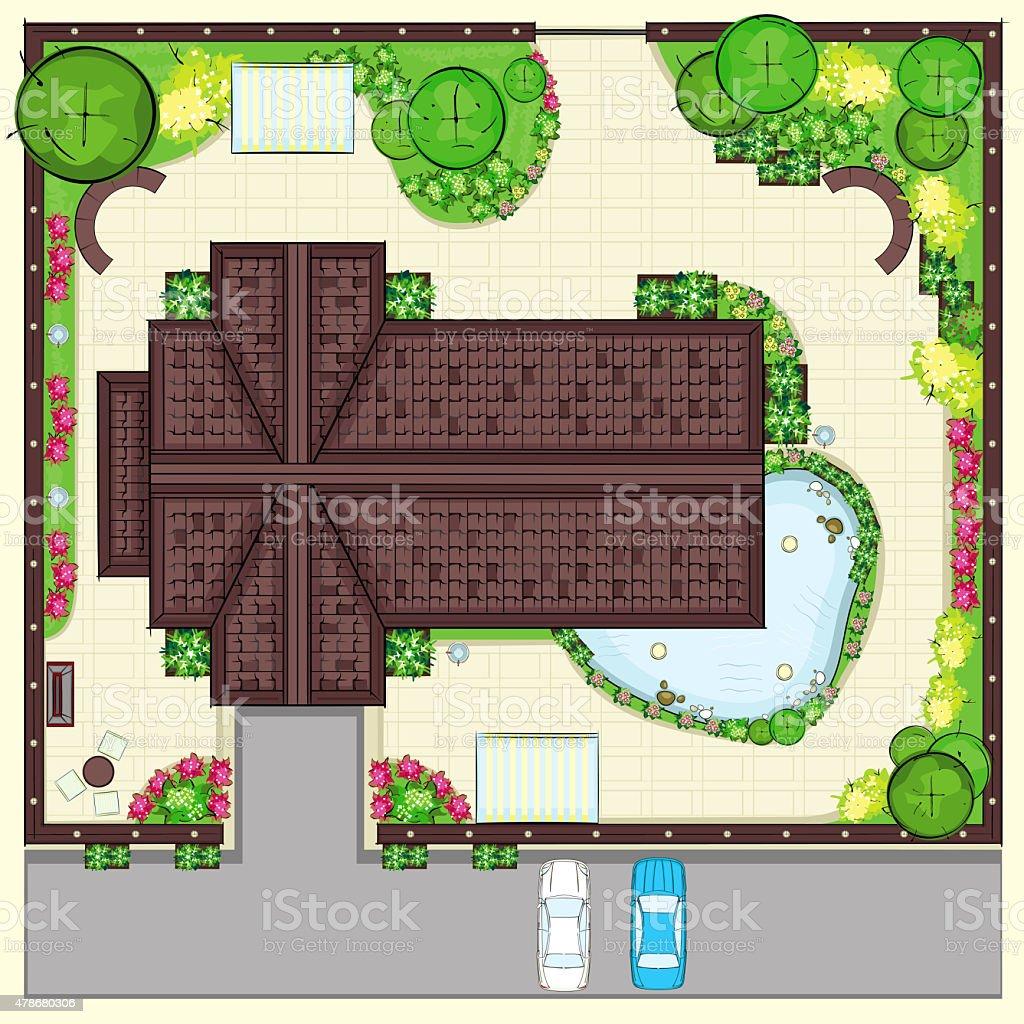 Plan De Maison Résidentielle Avec Vue Sur Un Magnifique