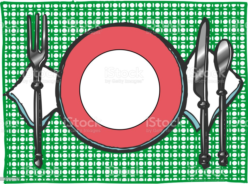 Restaurant table restaurant table - arte vetorial de stock e mais imagens de faca - talheres royalty-free