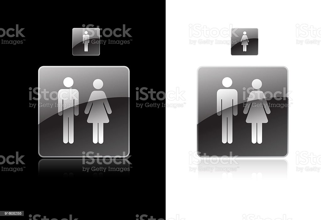 Restroom Symbol royalty-free restroom symbol stock vector art & more images of adult
