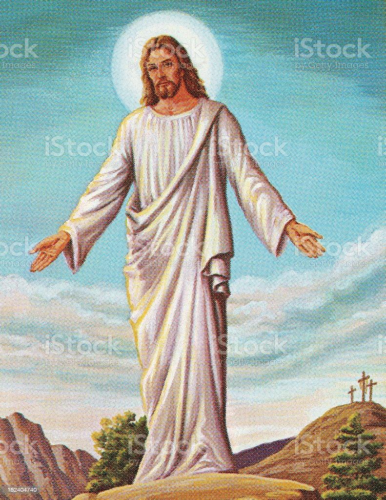 Resurrected Jesus vector art illustration