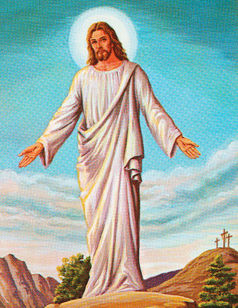 ilustrações de stock, clip art, desenhos animados e ícones de ressuscitado jesus - jesus cristo