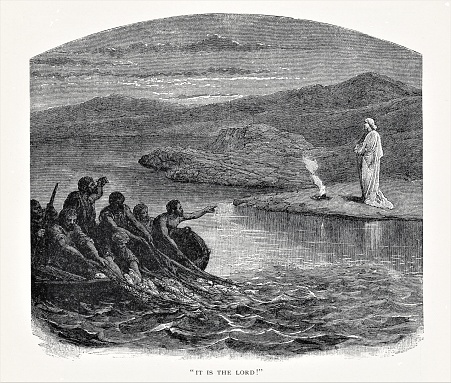 Resurrected Jesus Shows Himself to Fishing Disciples