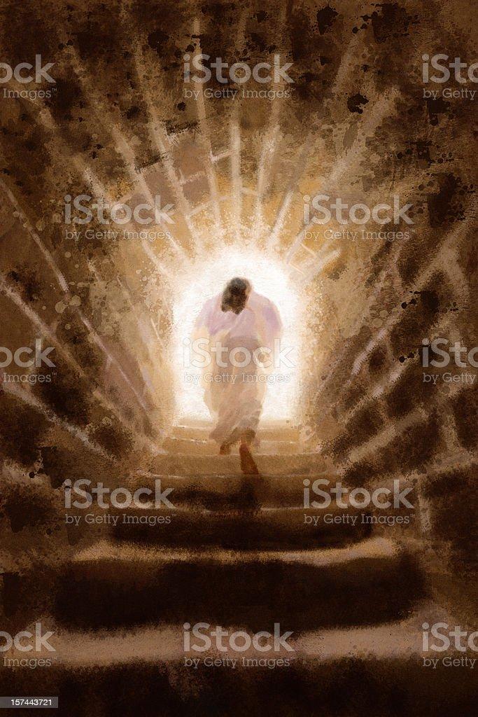 Resurrection of Jesus Christ (Illustration) vector art illustration