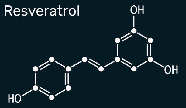 Resveratrol Transresveratrol Molecule It Is Stilbenoid Natural