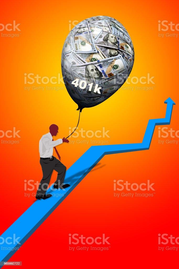 Retirement Money vector art illustration