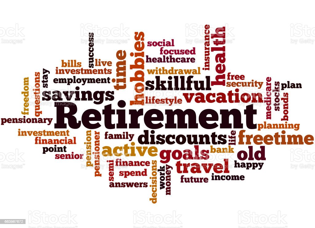 retirement word cloud concept 7 stock vector art more images of