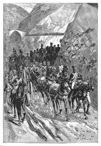 Retreat of Massena after the Battle of Ciudad Rodrigo (1810)