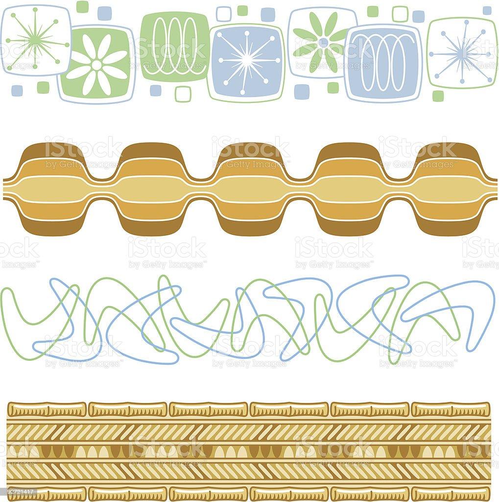 Retro 50s & 60s patterns vector art illustration