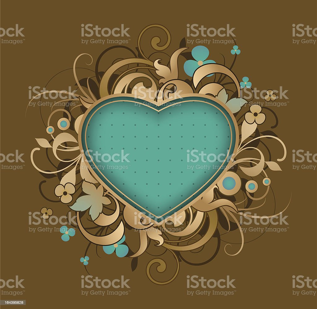 Retro abstract with heart royalty-free stock vector art