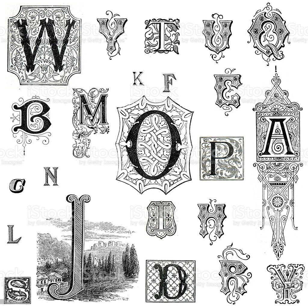 Retro Alphabet Letters royalty-free retro alphabet letters stock vector art & more images of alphabet
