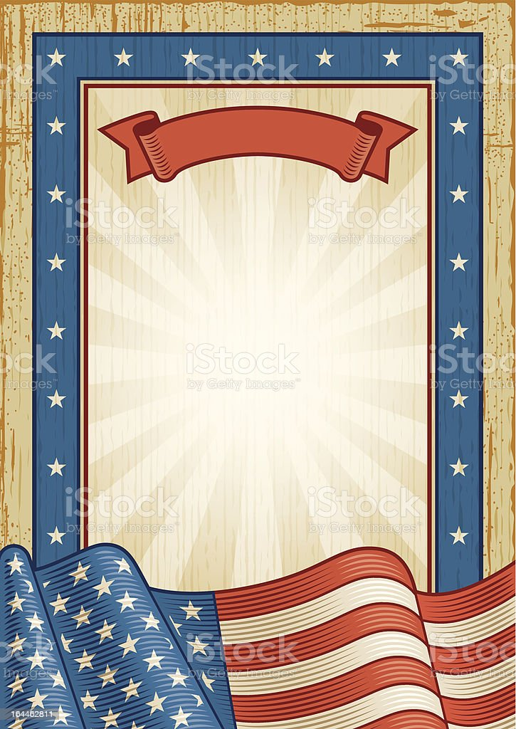 Retro American Frame vector art illustration