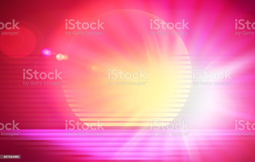 Retro arcade sun with dramatic light leak design illustration vector art illustration