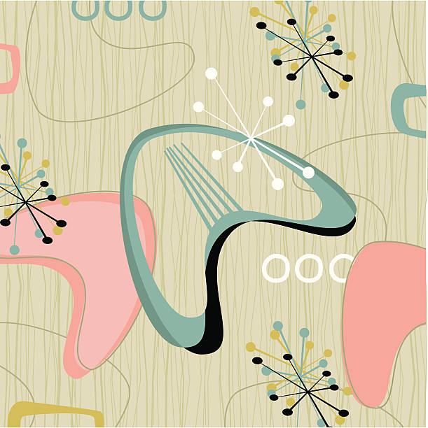 ilustrações de stock, clip art, desenhos animados e ícones de retro barkcloth tecido (vector - living room background