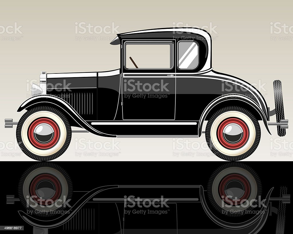 Retro car. royalty-free retro car stock vector art & more images of backgrounds