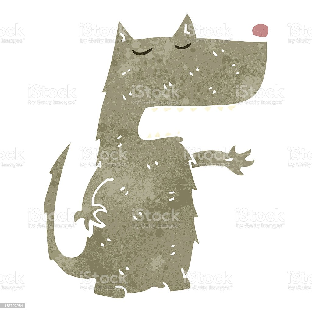 retro cartoon big bad wolf vector art illustration