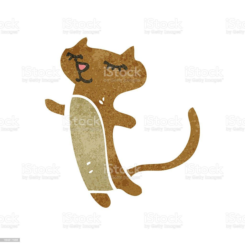 Vetores De Retro Feliz Dos Desenhos Animados Gato E Mais Imagens