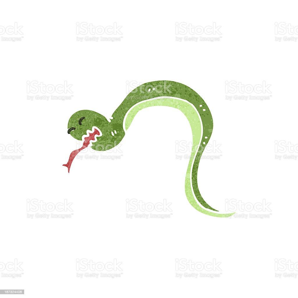retro cartoon snake royalty-free stock vector art
