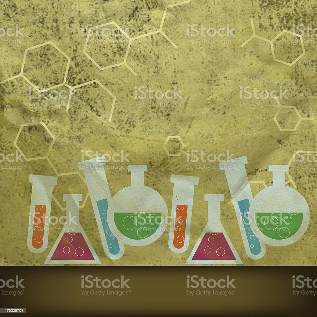 Retro chemistry background royalty-free stock vector art