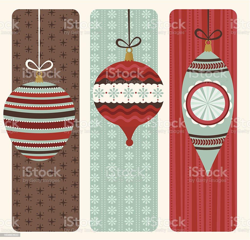 Retro Christmas banners royalty-free stock vector art