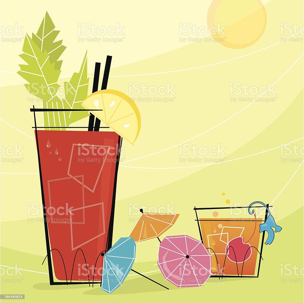 Retro Cocktails (Vector) royalty-free stock vector art