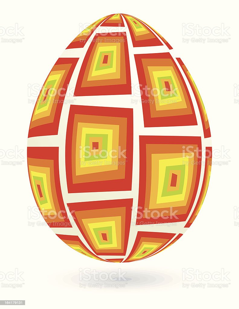 Retro easter egg. royalty-free stock vector art