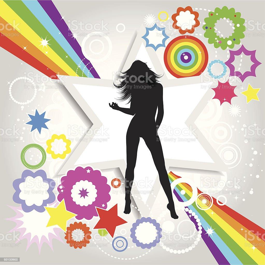 Retro female royalty-free stock vector art