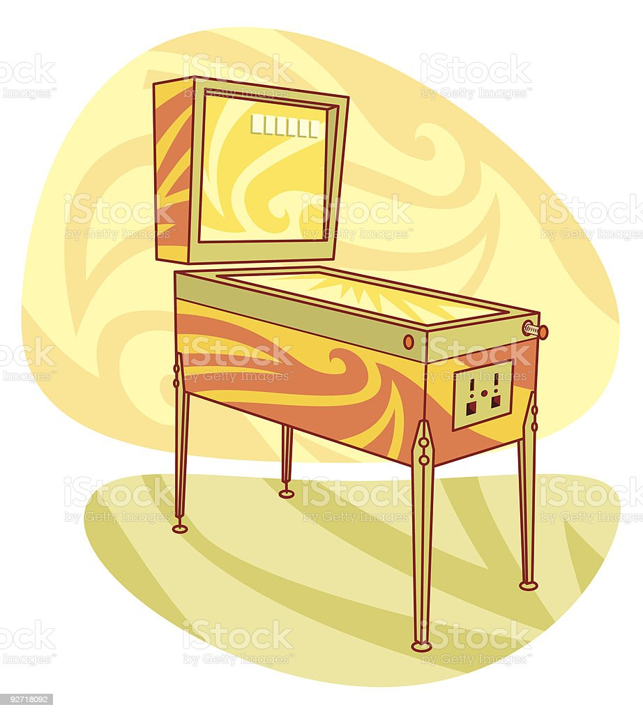 Retro games pinball machine royalty-free retro games pinball machine stock vector art & more images of amusement arcade