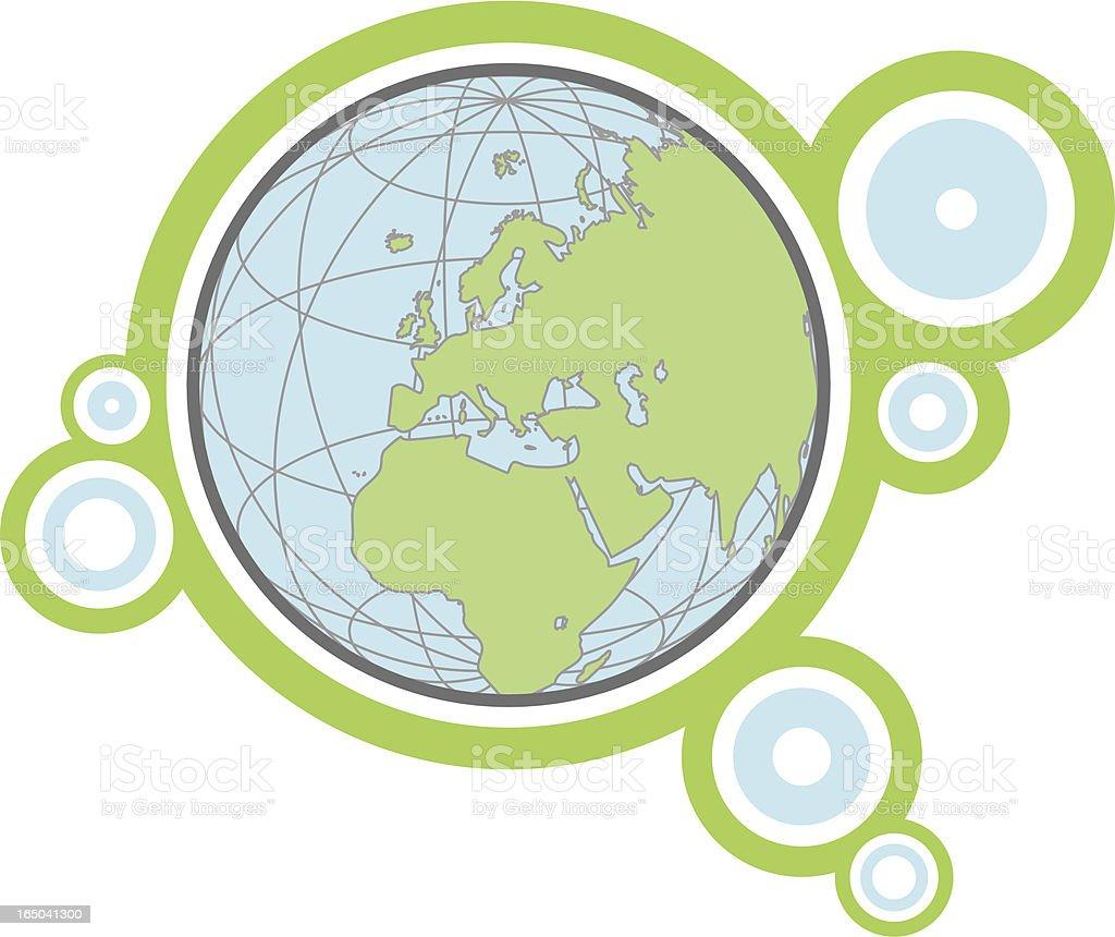 Retro Globe - Europe ( vector & jpg ) royalty-free stock vector art
