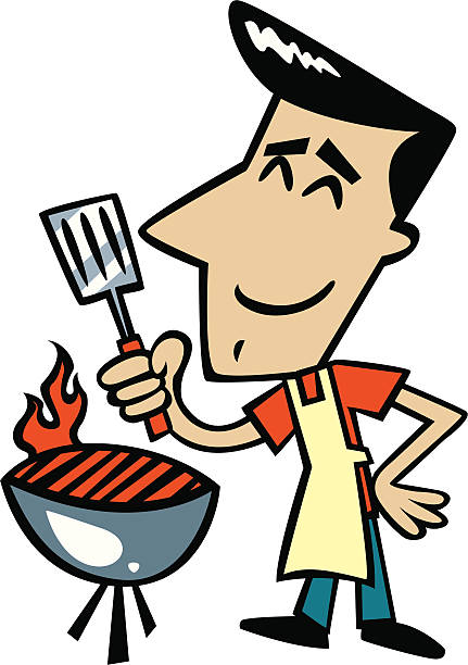Best Hibachi Grill Illustrations Royalty Free Vector