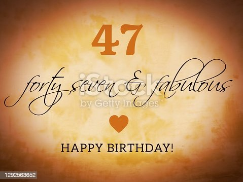 istock Retro happy birthday card illustration 1292563652