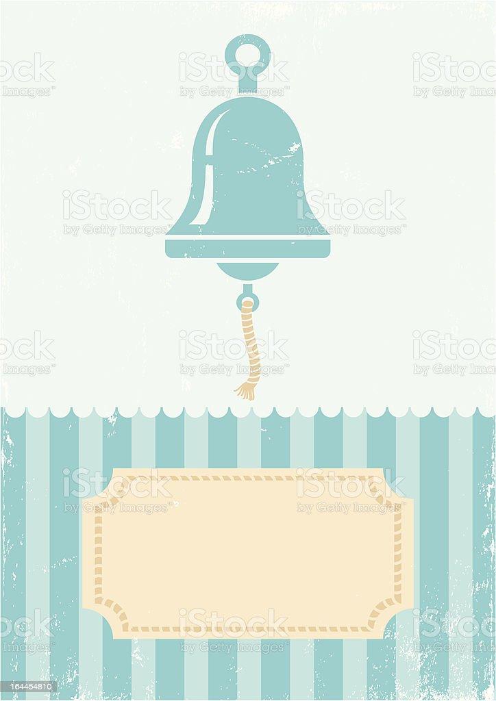 Retro illustration of bell royalty-free stock vector art