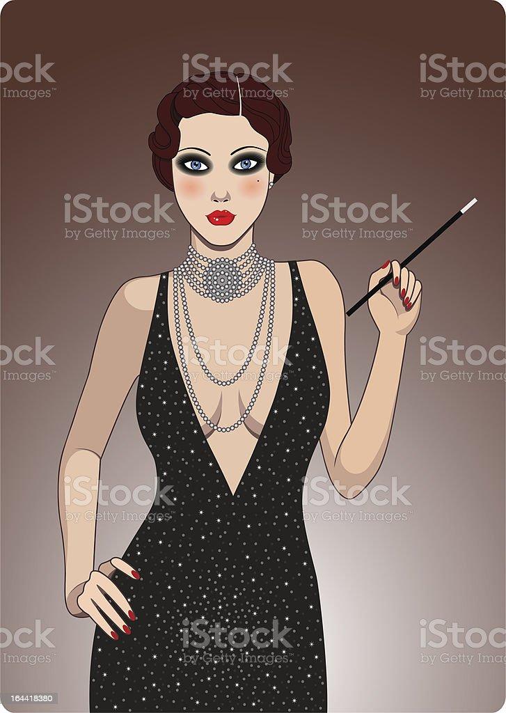 Retro lady royalty-free stock vector art