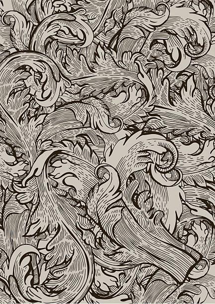 retro leaf background vector art illustration