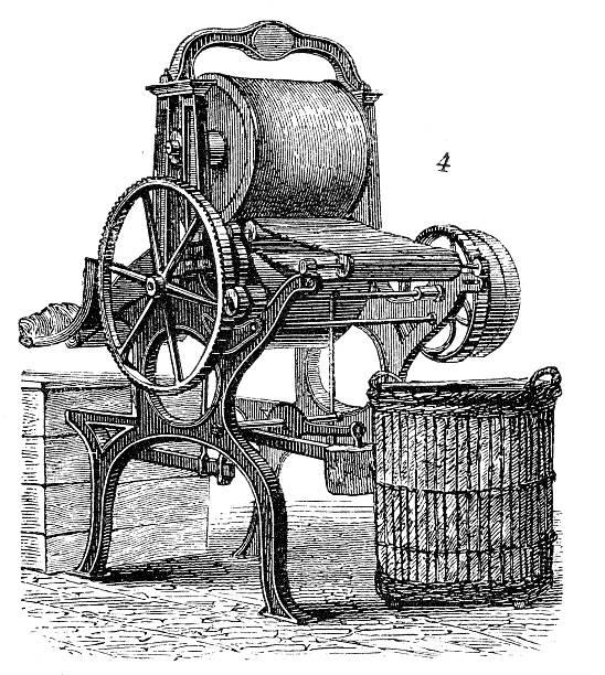 best old washing machine illustrations royalty free. Black Bedroom Furniture Sets. Home Design Ideas