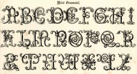Retro Metal Ornamental Script