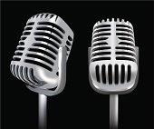 Retro Microphones -Vector Illustration