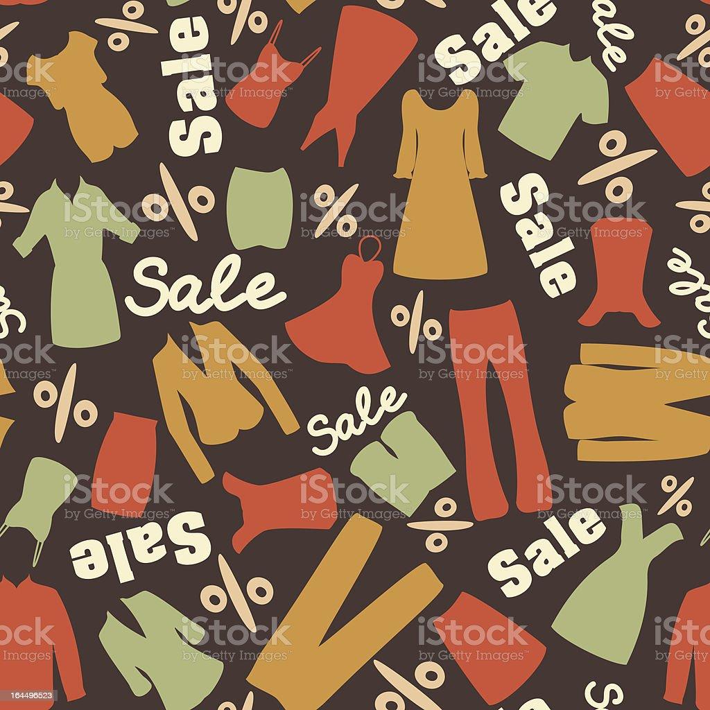 Retro Muster of sale sale – Vektorgrafik