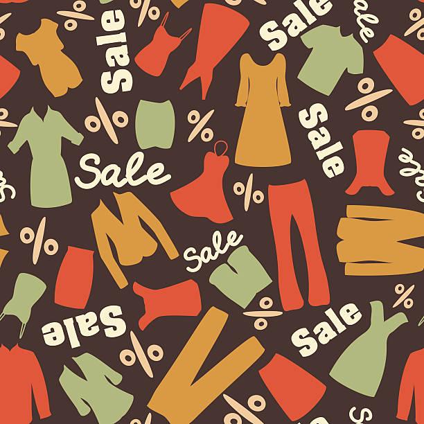 retro muster of sale sale - damenmode stock-grafiken, -clipart, -cartoons und -symbole