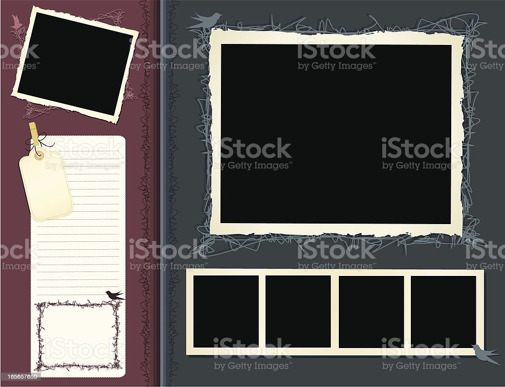 Retro Scrapbook Page vector art illustration