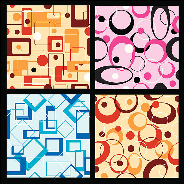 Retro Seamless Backgrounds vector art illustration