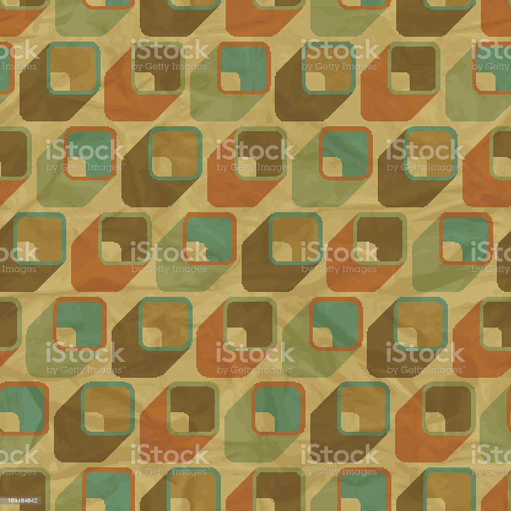 EPS10 retro seamless pattern on vintage old paper. royalty-free stock vector art