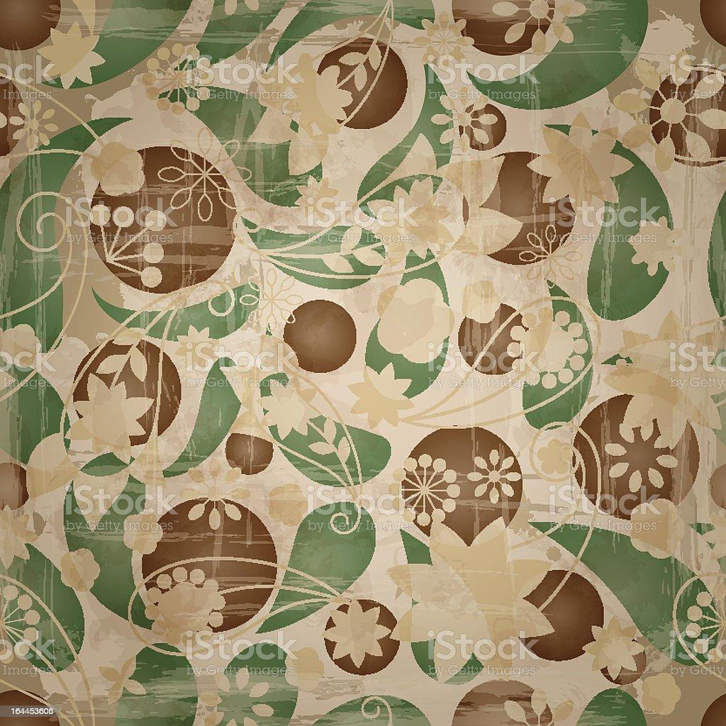 retro spring seamless  pattern royalty-free stock vector art