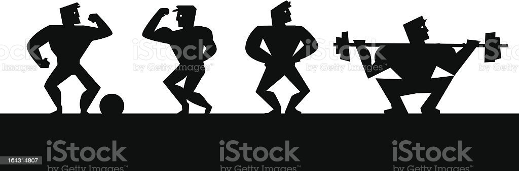 Retro strong men royalty-free retro strong men stock vector art & more images of adult