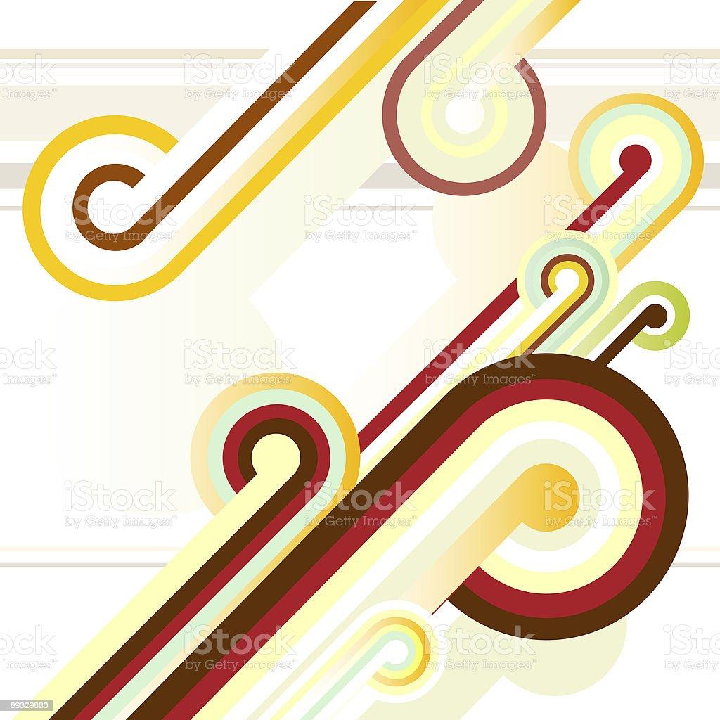 Retro Swirl vector art illustration